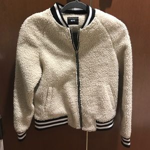 Urban Outfitters Fuzzy Bomber Jacket